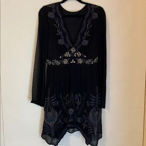 Gorgeous beaded sheer and flowy dress!